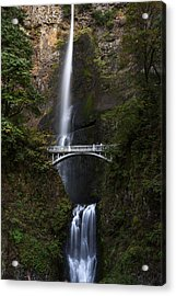 Acrylic Print featuring the photograph Multonomah Falls by John Gilbert