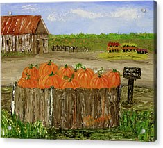 Mum And Pumpkin Harvest Acrylic Print