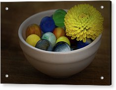 Mum In Marbles Acrylic Print by Denise McKay