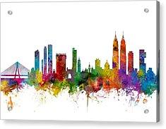 Mumbai Skyline India Bombay Acrylic Print by Michael Tompsett