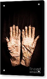 Mummy's Hands Over Dark Background Acrylic Print