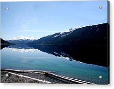 Muncho Lake Reflections Acrylic Print by Dave Clark