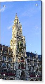 Acrylic Print featuring the photograph Munich Marienplatz by Corinne Rhode