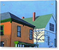 Munjoy Morning Acrylic Print by Laurie Breton