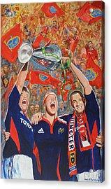 Munster Heiniken Cup Winners 2008 Acrylic Print by Tomas OMaoldomhnaigh