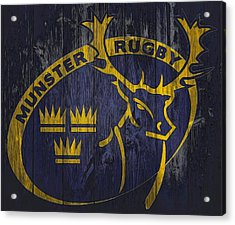 Munster Rugby Graphic Barn Door Acrylic Print