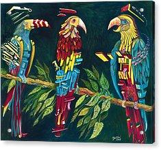 Munton Parrots Acrylic Print