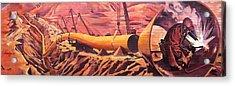 Mural 12x90 Feet Detail Pipeline Acrylic Print