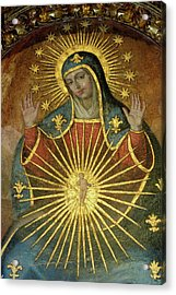 Mural Depicting The Virgin Mary Inside The Catedral De Cordoba Acrylic Print by Sami Sarkis