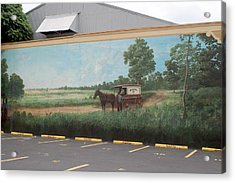 Mural Of Horse And Buggy In Arkansas Acrylic Print by Carl Purcell