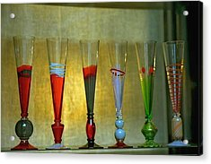 Murano Glasses In Venice Acrylic Print by Michael Henderson