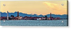 Murano Sunrise Acrylic Print by Art Ferrier