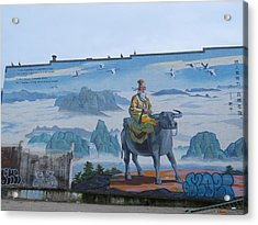 Mural In Chinatown Vancouver Acrylic Print