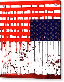 America In Distress Acrylic Print