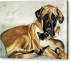 Murphy And Cody Acrylic Print by Eileen Hale