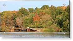Acrylic Print featuring the photograph Murphy Mill Dam/bridge by Jerry Battle