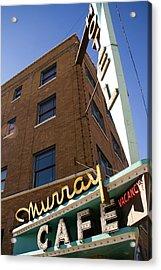 Murray Cafe And Hotel Acrylic Print by Rachel Barner