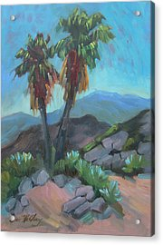 Acrylic Print featuring the painting Murray Trail Andreas Canyon by Diane McClary