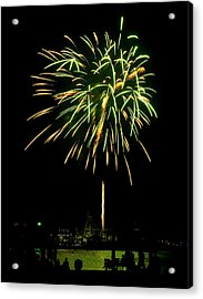 Acrylic Print featuring the photograph Murrells Inlet Fireworks by Bill Barber