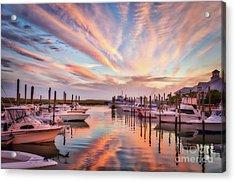 Murrells Inlet Sunset 2 Acrylic Print by Mel Steinhauer