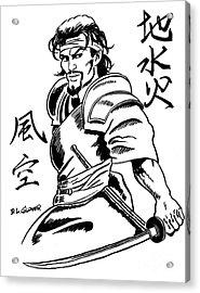 Musashi Samurai Tattoo Acrylic Print