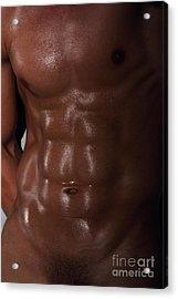 Muscle Man Acrylic Print by Mark Ashkenazi