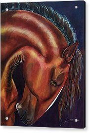 Acrylic Print featuring the painting Muscle Man by Thomas Lupari