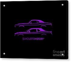 Muscle Pony Silhouettehistory Acrylic Print by Gabor Vida
