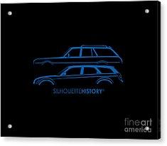 Muscle Wagon Silhouettehistory Acrylic Print by Gabor Vida