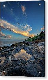 Muscongus Bay Reflections Acrylic Print by Rick Berk