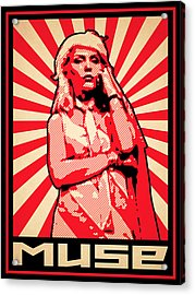 Muse - Red  Acrylic Print by Lance Vaughn