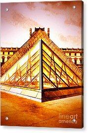 Musee Du Louvre Acrylic Print by Daniel Janda