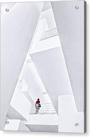 Museu Da??art Contemporani De Barcelona Acrylic Print by Herbert A. Franke