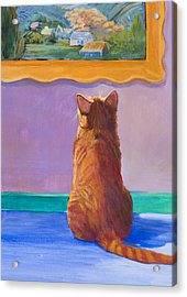 Museum Cat 2 Acrylic Print by Jimmie Trotter