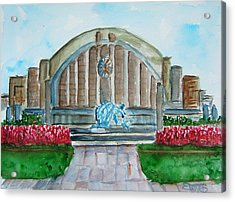 Museum Center Acrylic Print by Elaine Duras