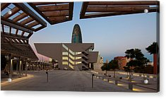 Museum In A City, Disseny Hub Acrylic Print by Panoramic Images
