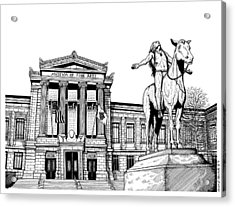 Museum Of Fine Arts Boston Acrylic Print by Conor Plunkett