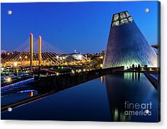 Museum Of Glass At Blue Hour Acrylic Print