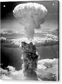 Mushroom Cloud Over Nagasaki  Acrylic Print by War Is Hell Store