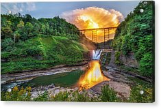 Mushroom Cloud Over Upper Falls Acrylic Print
