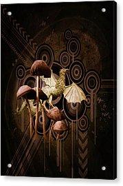 Acrylic Print featuring the digital art Mushroom Dragon by Richard Ricci