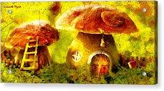 Mushroom House - Da Acrylic Print