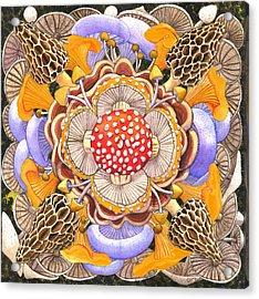 Mushroom Mandala Acrylic Print