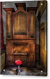 Music - Organist - What A Big Organ You Have  Acrylic Print by Mike Savad