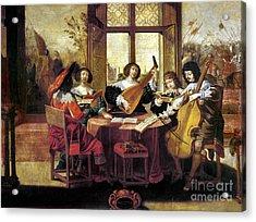Music, 17th Century Acrylic Print by Granger