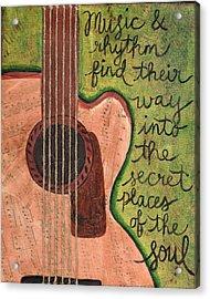Music And Rhythm Acrylic Print by Monica Martin