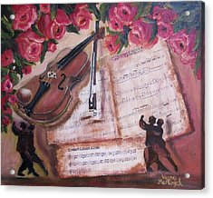 Music And Roses Acrylic Print