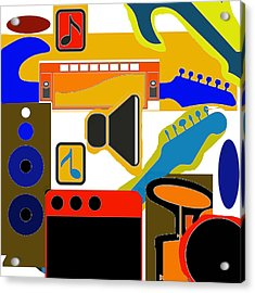 Music Collage Acrylic Print
