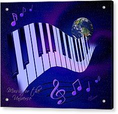 Music For The Universe Acrylic Print by Judi Quelland