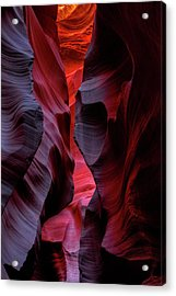 Music, Frozen In The Rocks 5 Acrylic Print by Alex Galkin